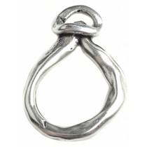 Zilver Hanger druppel ring Zilver DQ 25x47mm