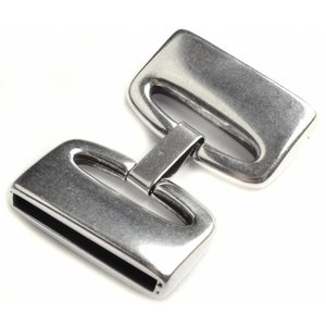 Zilver Sluiting clip Ø30x2.5mm Zilver DQ