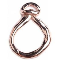 Rosegoud Hanger druppel ring Rosegoud DQ 25x47mm