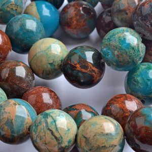Turquoise Edelsteen aqua terra jasper 12mm
