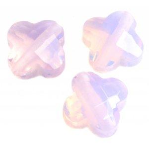 Roze Quartz klaver pink opal 12mm - per stuk