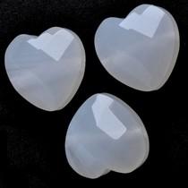 Wit Quartz hart opaal wit 12mm - per stuk