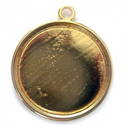 Goud Cabochon setting 16.4mm goud DQ