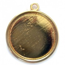 Goud Cabochon setting 11.5mm goud DQ