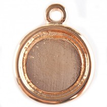Rosegoud Cabochon setting 16.4mm rosé goud DQ