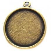 Antiek Goud Brons Cabochon setting 20mm brons DQ