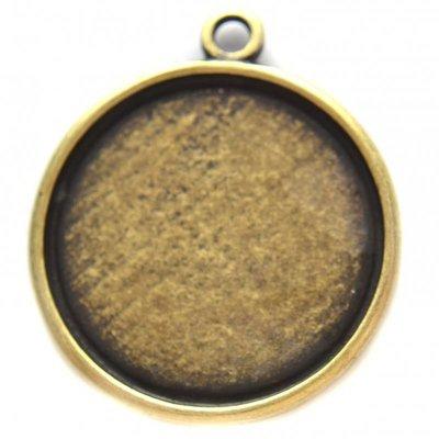 Antiek Goud Brons Cabochon setting 16.4mm brons DQ