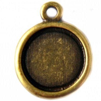 Antiek Goud Brons Cabochon setting 12mm brons DQ