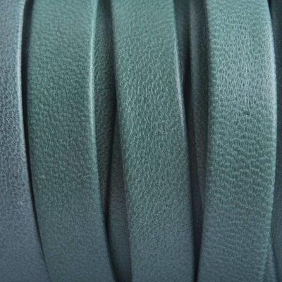 Groen Plat nappa jade groen grijs 10x1.5mm - prijs per cm