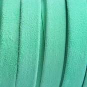 Groen Plat nappa suede leer mint groen 10x1.5mm - prijs per cm