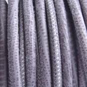 Grijs Stitched nappa PQ leer rond lila grijs 4mm - prijs per cm