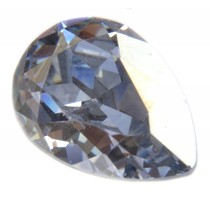 Blauw Swarovski druppel crystal blue shadow 14x10mm