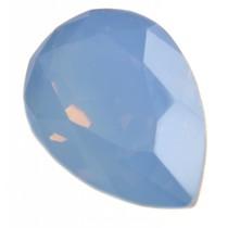 Blauw Swarovski druppel air blue opal 14x10mm