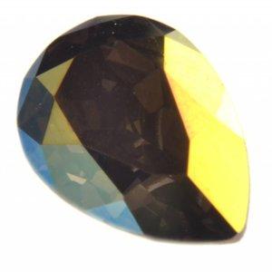 Groen Swarovski druppel crystal iridescent green 14x10mm