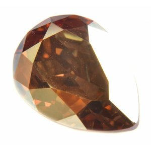 Goud Swarovski druppel crystal metallic sunshine 14x10mm