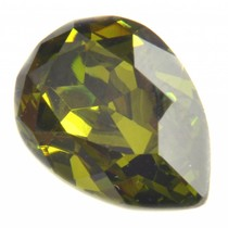 Groen Swarovski druppel olivine 14x10mm