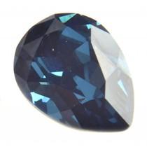 Blauw Swarovski druppel montana 14x10mm