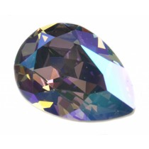 Paars Swarovski druppel crystal paradise shine 14x10mm