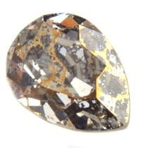 Goud Swarovski druppel gold patina 14x10mm