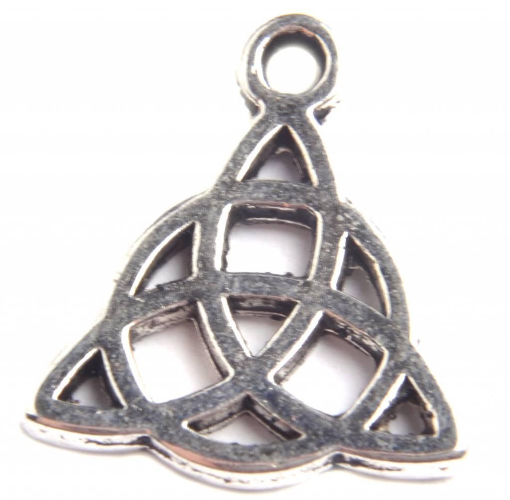 Bedel Keltische Knoop Triquetra Zilver 16mm 3 Stuks Kraaltjes