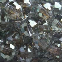 Groen Glaskraal rond facet army green shine 10mm - 5 stuks