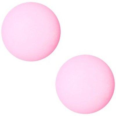 Roze Cabochon pastel rose pink 12mm