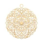 Goud Filigraan hanger goud 24mm
