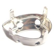 Zilver Rijgkastje druppel Zilver DQ voor swarovski 14x10mm