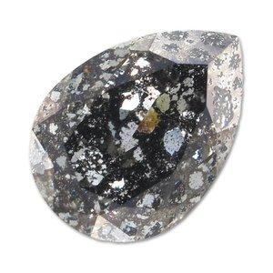 Zwart Swarovski druppel patina black 14x10mm