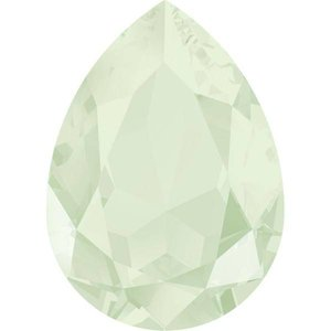 Groen Swarovski druppel powder green 14x10mm