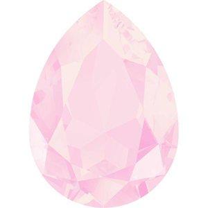Roze Swarovski druppel powder pink 14x10mm