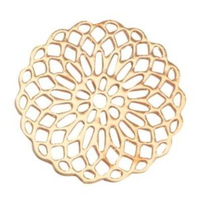 Goud Bohemian tussenstuk rond 15mm Goud