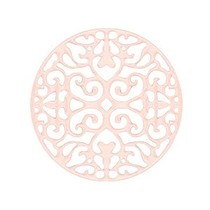 Roze Bohemian tussenstuk rond 23mm Light rose