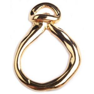 Goud Hanger druppel ring Goud DQ 25x47mm