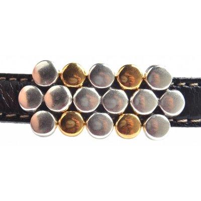 Goud Leerschuiver dots Ø10x2.5mm Goud DQ