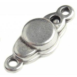 Zilver Magneetsluiting Zilver DQ 17x7mm