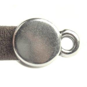 Zilver Eindkap Ø5x2.5mm Zilver DQ