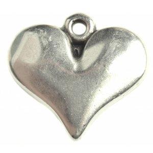Zilver Bedel hart Zilver DQ 16mm