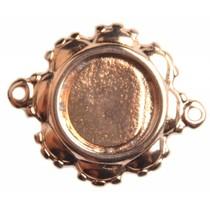 Rosegoud Tussenzetsel setting voor 12mm cabochon Rosegoud DQ