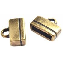 Antiek Goud Brons Eindkap plat Ø10x2.5mm Brons DQ