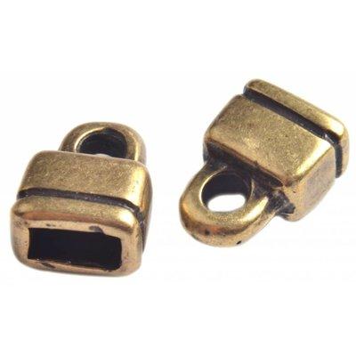 Antiek Goud Brons Eindkap Ø6x3mm Brons DQ