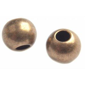 Antiek Goud Brons Kraal rond Ø1,4mm Brons DQ 4mm