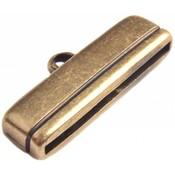 Antiek Goud Brons Eindkap Ø30x2.5mm Brons DQ