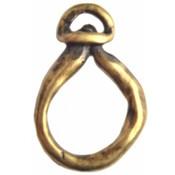 Antiek Goud Brons Hanger druppel ring Brons DQ 25x47mm