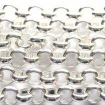 Zilver Jasseron licht zilver 2mm - prijs per 10cm