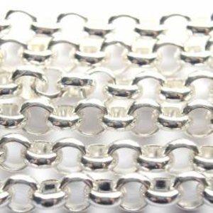 Zilver Jasseron licht zilver 5mm - prijs per 10cm