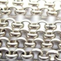Zilver Jasseron mat zilver 7mm - prijs per 10cm