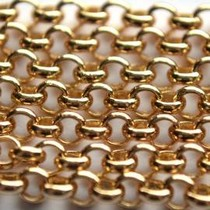 Goud Jasseron goud 3mm - prijs per 10cm
