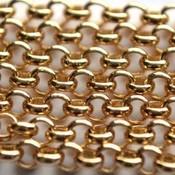 Goud Jasseron goud 5mm - prijs per 10cm