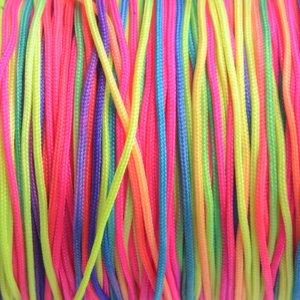 Multicolor Nylon rattail koord regenboog 1mm - 6 meter